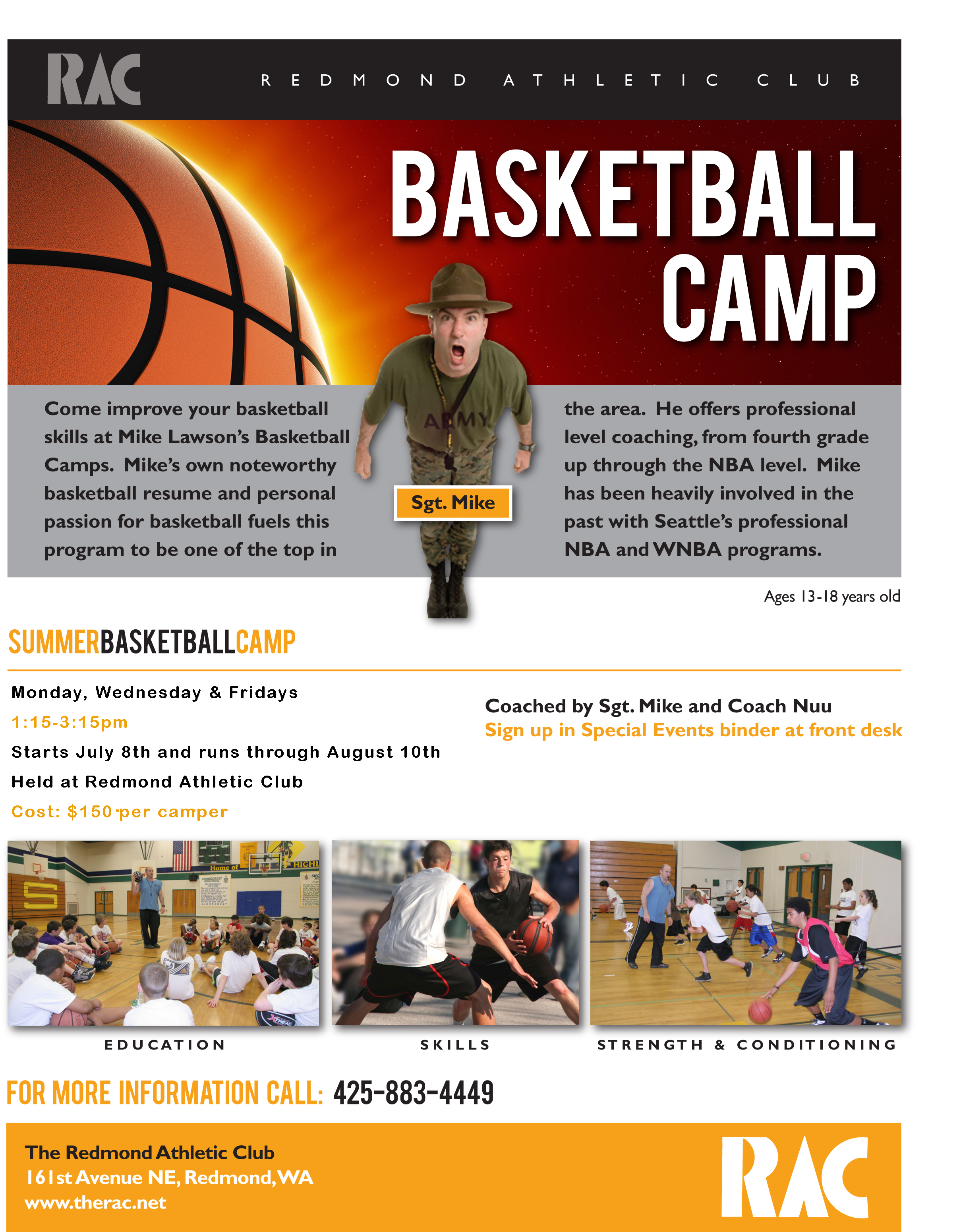 2013 basketball camp flyer sgt mike lawson athletic training and