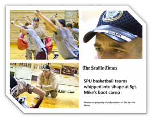SPU basketball teams whipped into shape at Sgt. Mike's boot camp