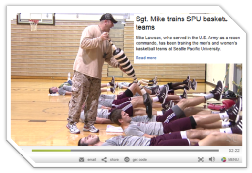 Seattle Times Sgt Mike Trains SPU basketball teams